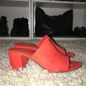 Red Block Heels Size 8